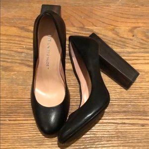 United Nude black pumps with wood block heel
